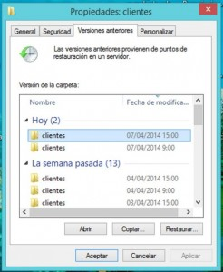 captura pantalla snapshot copias